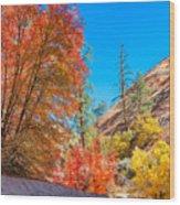 Zion Autumn Colors Wood Print