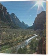 Zion Canyon Wood Print