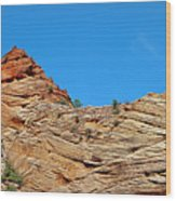 Zion Checkerboard Formations Wood Print