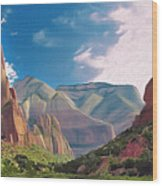 Zion Cliffs Wood Print