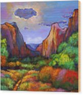 Zion Dreams Wood Print by Johnathan Harris