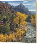 Zion Fall Foliage Wood Print