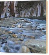 Zion National Park Narrows Wood Print