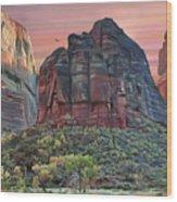 Zion National Park Sunset Wood Print