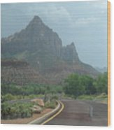 Zion National Part 2 Wood Print