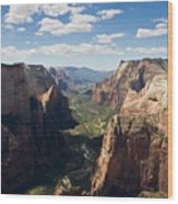 Zion Valley From Observation Point - Color Wood Print