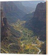 Zion Valley Wood Print