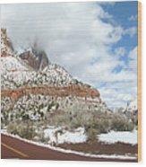 Crossroads, Zion Valley Wood Print