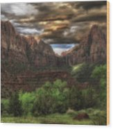 Zion's Morning Wood Print