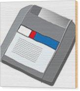 Zip Disk Wood Print
