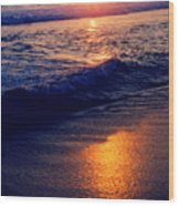 Zipolite Sunset In January 2 Wood Print