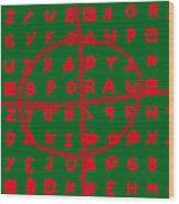 Zodiac Killer Code And Sign 20130213 Wood Print