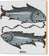 Zodiac: Pisces, 1482 Wood Print