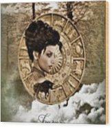 Zodiac Signs - Taurus Wood Print