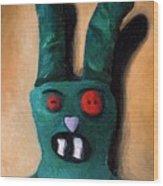 Zombie Bunny Wood Print