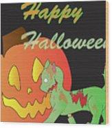 Zombie Cat Wood Print