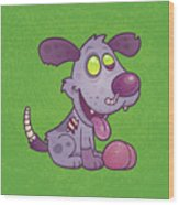 Zombie Puppy Wood Print by John Schwegel
