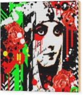 Zombie Queen Roses Wood Print