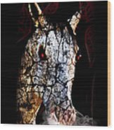 Zombified Horse Wood Print