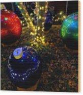 Zoo Lights Ornaments Wood Print