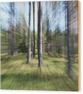 Zoom Photo Wood Print
