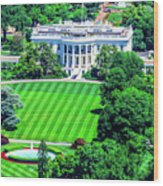 Zoomed In Photo Of The White House Wood Print