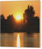 Zoomed Sunset - Alexandria Bay Wood Print