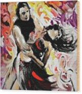 Zouk Lambada Dance Wood Print