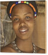 Zulu Beauty Wood Print