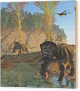 Zuniceratops River Wood Print