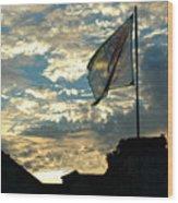 Zurich Griffin Flag At Sunset Wood Print