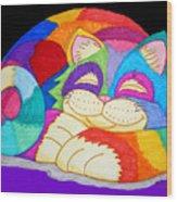 Zzzzzzzzzz Cat 3 Wood Print by Nick Gustafson