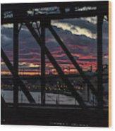 008 - Trestle Sunset Wood Print