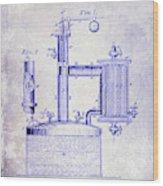 1878 Beer Boiler Patent Blueprint Wood Print