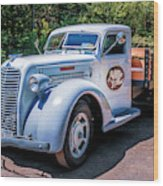 1938 Diamond T Stakebed Truck Wood Print
