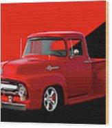 1956 Ford F100 Stepside Pickup Wood Print