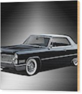 1966 Cadillac Coupe Deville Wood Print