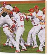 2011 World Series Game 7 - Texas 1 Wood Print