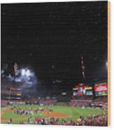 2011 World Series Game 7 - Texas Wood Print