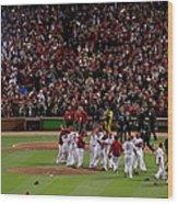 2011 World Series Game 7 - Texas Wood Print
