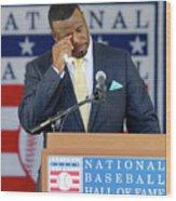 2016 Baseball Hall Of Fame Induction Wood Print