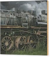 Abandoned Steam Locomotive  Wood Print
