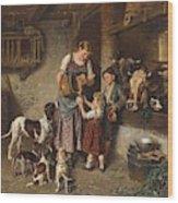 Adolf Eberle  Fresh Milk Wood Print