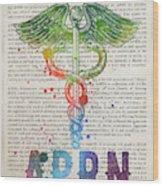 Advanced Practice Registered Nurse Gift Idea With Caduceus Illus Wood Print