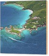 Aerial Shot Of West End, St. Thomas, Us Wood Print