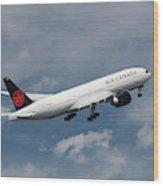 Air Canada Boeing 777-233 Lr Wood Print