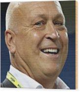 Alcs - Cleveland Indians V Toronto Blue Wood Print
