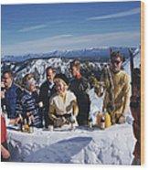 Apres Ski Wood Print