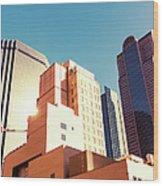 Architecture, Dallas Financial District Wood Print