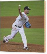 Atlanta Braves V Miami Marlins Wood Print